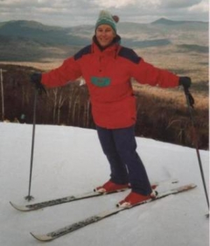 Founder Mary Williams skiing